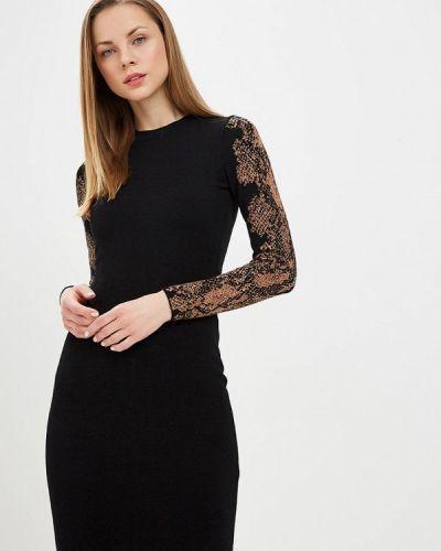 Платье вязаное черное Karen Millen