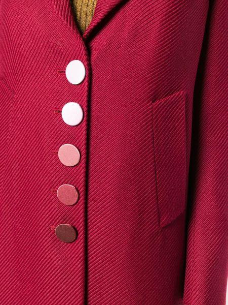 Красное шерстяное пальто классическое с воротником Marco De Vincenzo