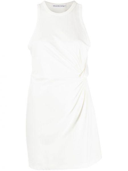 Bawełna prosto wyposażone sukienka mini bez rękawów Alexander Wang