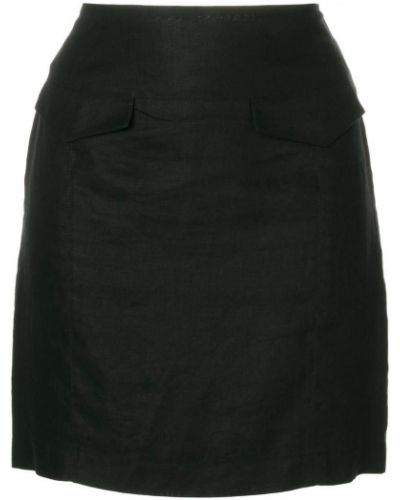 Юбка мини льняная винтажная Versace Vintage