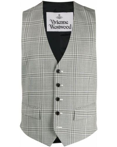 Czarna kamizelka wełniana bez rękawów Vivienne Westwood