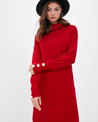 Красное вязаное платье Care Of You