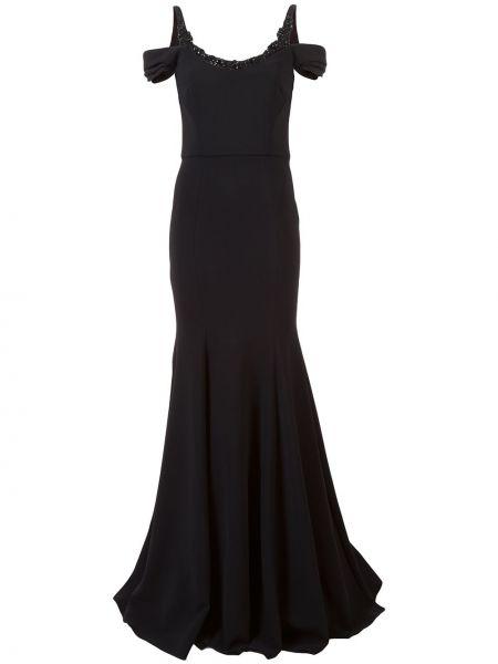 Платье с открытыми плечами - черное Marchesa Notte