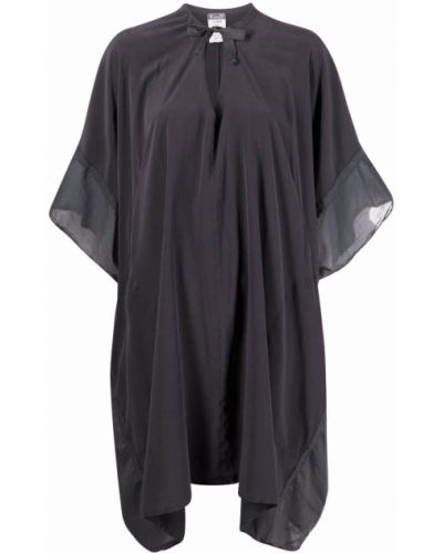 Шелковое серое платье до середины колена Kristensen Du Nord