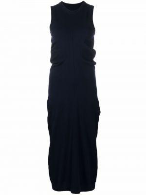 Шерстяное платье - синее Maison Margiela