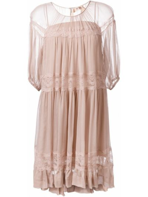 Шелковое платье - розовое N°21