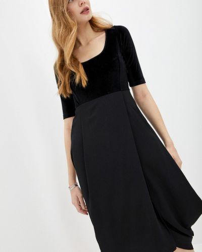 Повседневное черное платье High