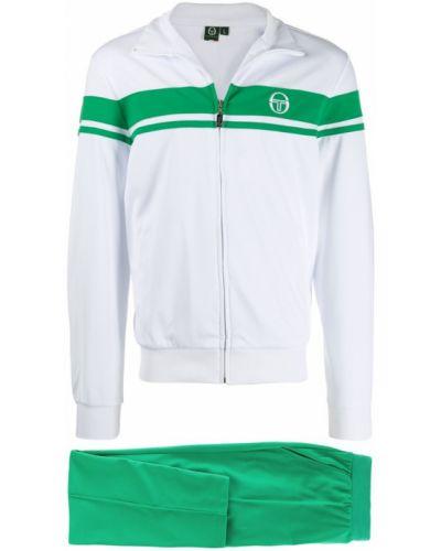 Зеленый спортивный костюм в рубчик с карманами на молнии Sergio Tacchini