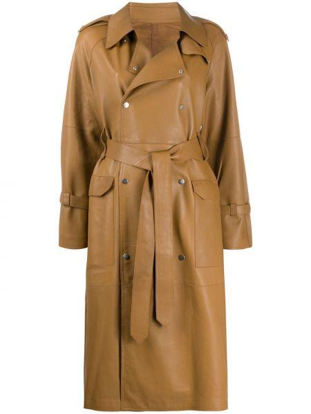 Długi płaszcz klasyczny skórzany S.w.o.r.d. 6.6.44