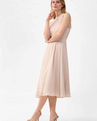 Sukienka koktajlowa rozkloszowana koronkowa bez rękawów Orsay