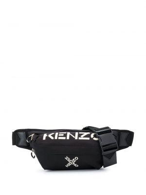 Поясная сумка с логотипом - черная Kenzo