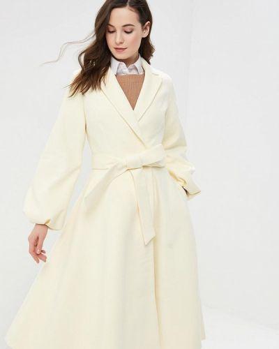Пальто бежевое двубортное Grand Style