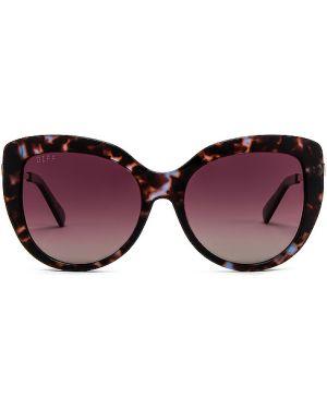 Okulary przeciwsłoneczne skórzany metal Diff Eyewear