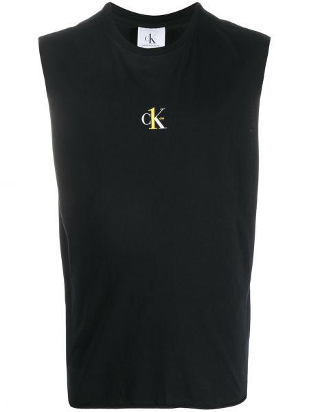 Kamizelka dżinsowa czarny Calvin Klein Jeans
