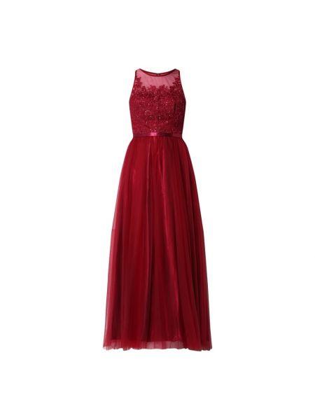 Sukienka wieczorowa rozkloszowana z cekinami bez rękawów Laona