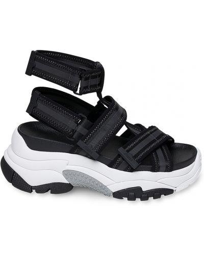 Спортивные сандалии на липучках черные Ash