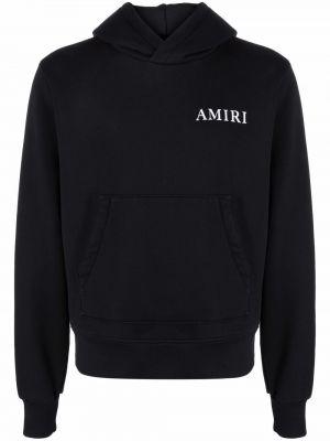 Czarna bluza długa z kapturem z długimi rękawami Amiri