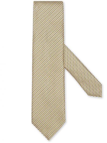 Krawat z jedwabiu - żółty Ermenegildo Zegna