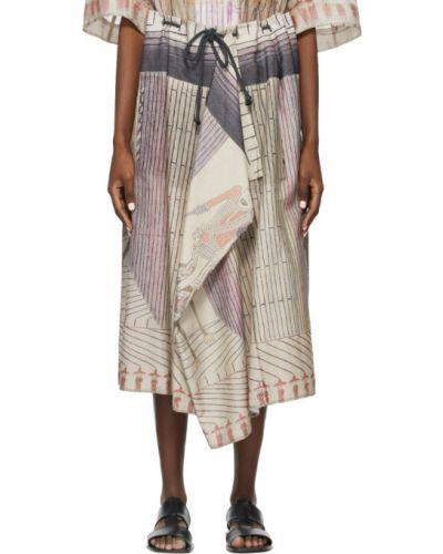 Beżowa spódnica asymetryczna bawełniana Lemaire