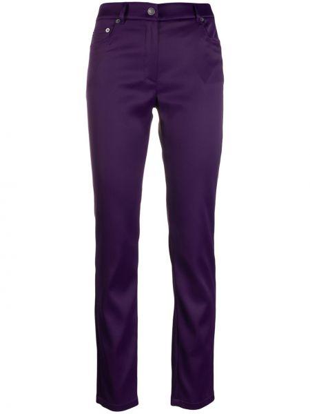 Брюки фиолетовые с карманами Moschino