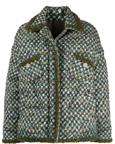 Пуховая куртка - зеленая Khrisjoy