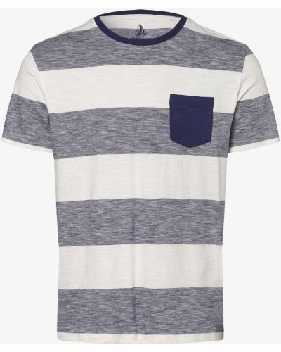Beżowy t-shirt w paski Andrew James Sailing