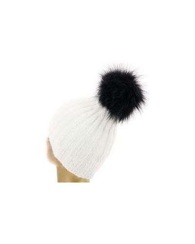 Белая шапка шерстяная Vintage Plus