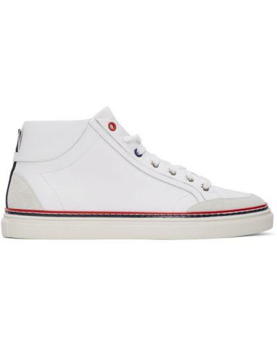 Wysoki sneakersy białe srebro Thom Browne