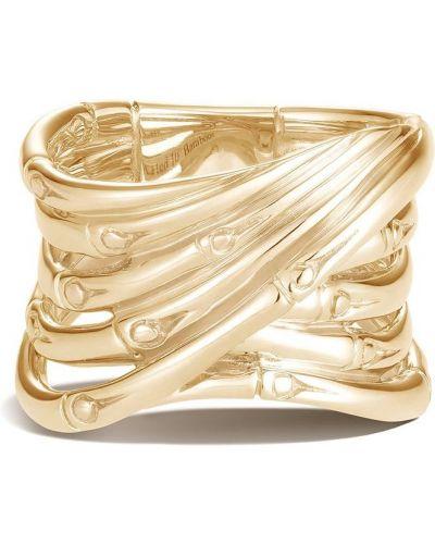 Żółty złoty pierścionek John Hardy