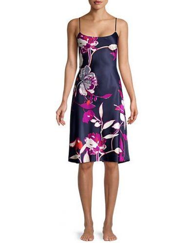 Fioletowa koszula nocna w kwiaty z printem Natori