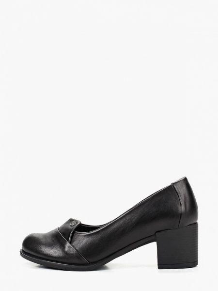 Кожаные туфли черные закрытые Pierre Cardin