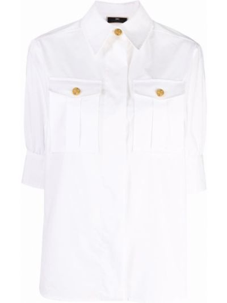Белая хлопковая рубашка Elisabetta Franchi