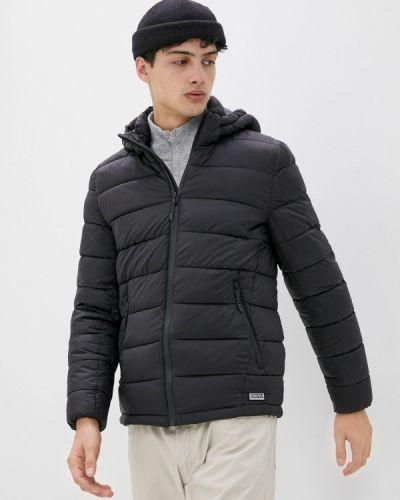 Черная утепленная куртка Springfield