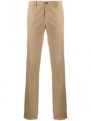 Beżowe spodnie bawełniane z paskiem Ami