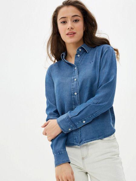 Джинсовая рубашка синяя Calvin Klein Jeans