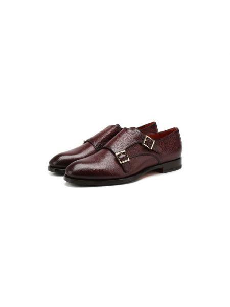 Дерби для обуви кожаные Santoni