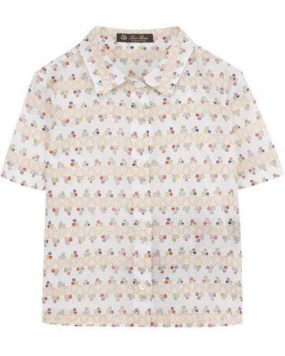 Блузка прямая хлопковая Loro Piana