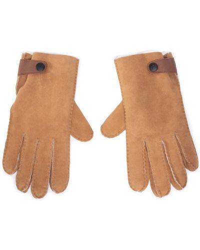 Brązowe rękawiczki Ugg