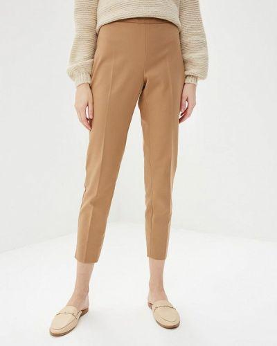 Коричневые классические брюки Naf Naf