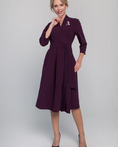 Приталенное платье миди с запахом с V-образным вырезом на торжество Sezoni