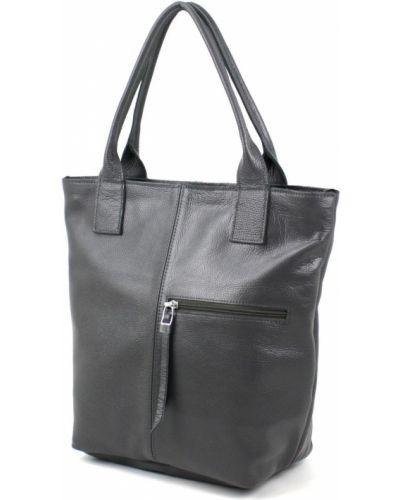 Кожаная сумка - серая Borsacomoda