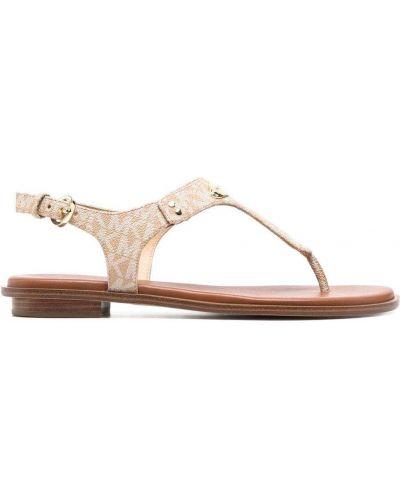 Кожаные сандалии с пряжкой на плоской подошве Michael Michael Kors