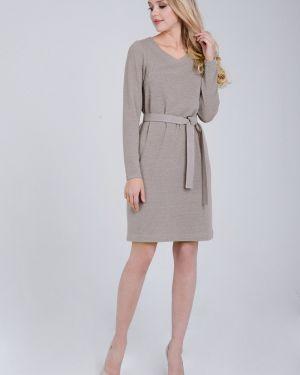 Платье с поясом с V-образным вырезом платье-сарафан Zip-art