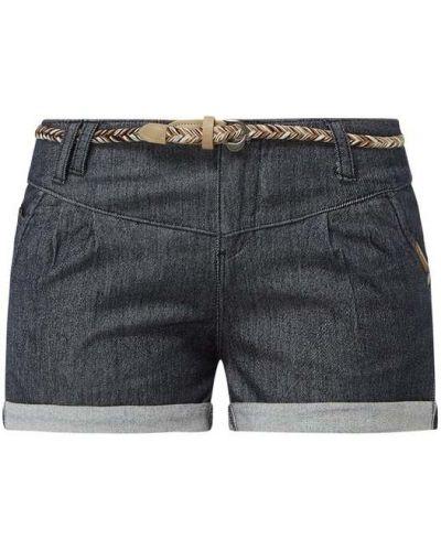 Niebieskie szorty jeansowe bawełniane z niskim stanem Ragwear