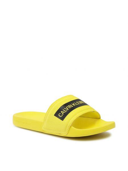 Żółte sandały na lato Calvin Klein Jeans