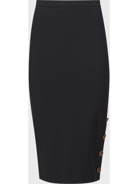 Черная юбка на пуговицах Elisabetta Franchi