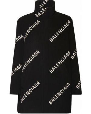 Wełniany płaszcz Balenciaga
