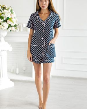 Пижама с шортами с короткими рукавами с рубашкой Lika Dress