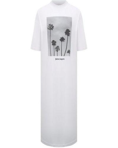 Хлопковое белое платье Palm Angels