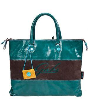 Кожаная сумка - бирюзовая Gabs